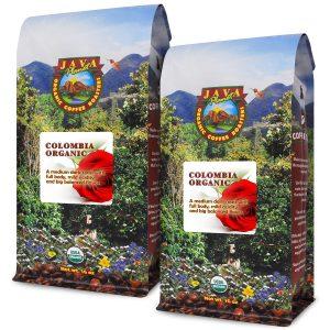 Java Planet Colombian Organic low acid coffee