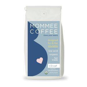 Mommee Coffee Half Caff, Low Acid Coffee