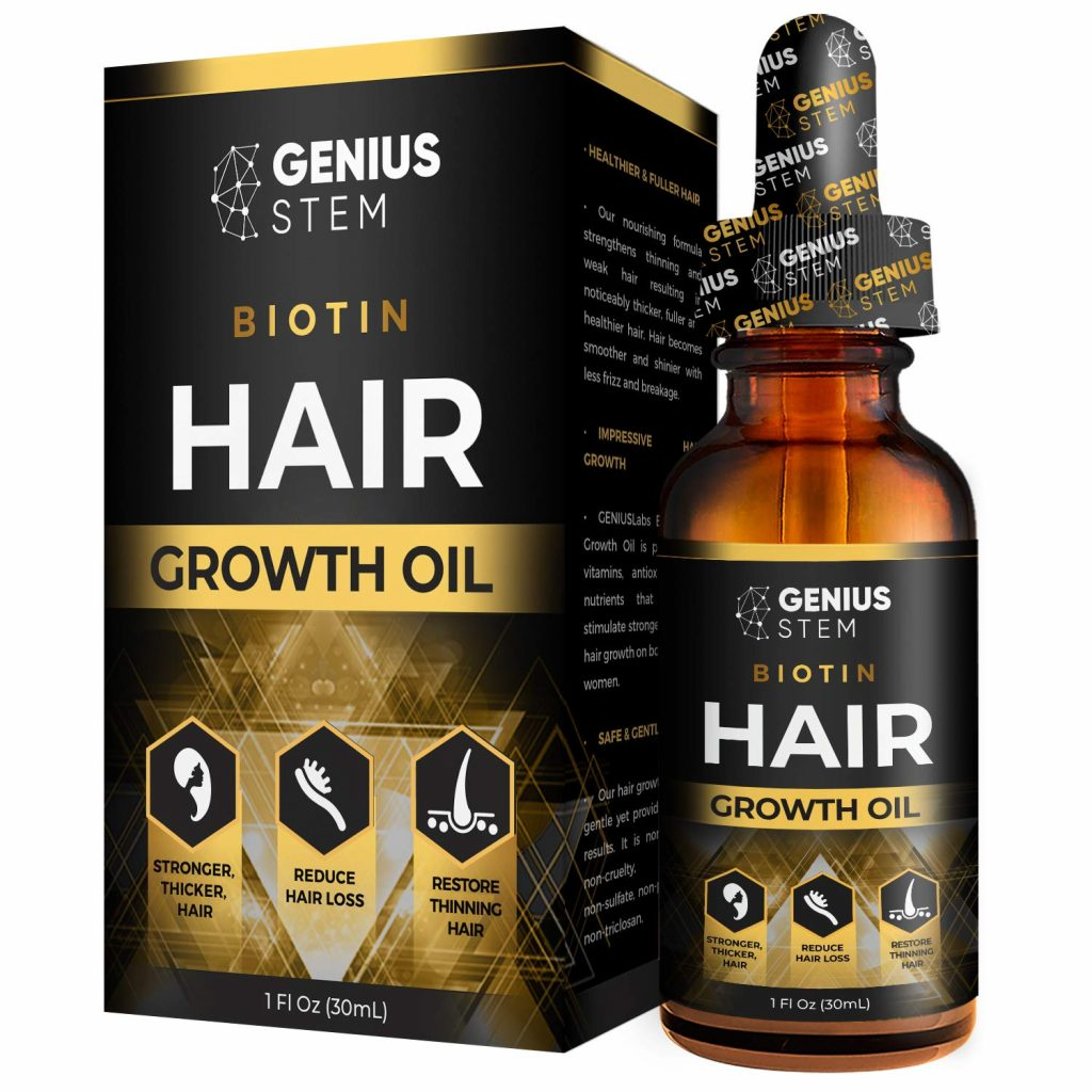 Best Biotin Liquid - Genius Stem Biotin Hair Growth Oil