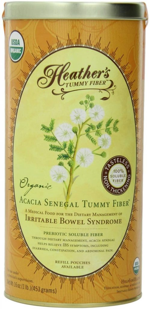Heather's Tummy Fiber Organic Acacia Senegal - Organic Fiber Powder