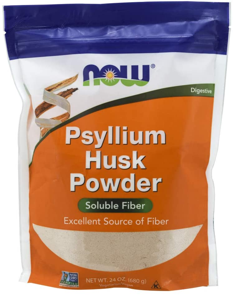 NOW Supplements, Psyllium Husk Powder - Organic fiber supplement