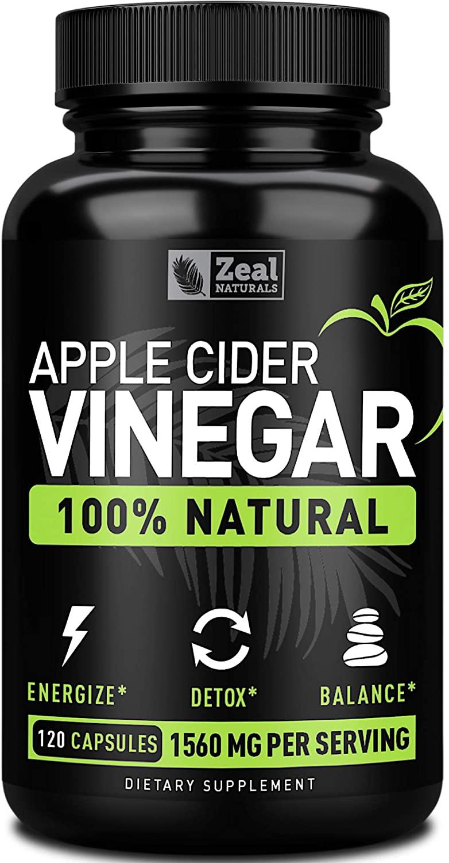 Zeal Naturals Apple Cider Vinegar Pills - best fat loss supplements for women